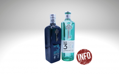 No. 3 London Dry Gin in neuer Flasche
